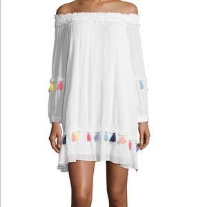 NWT Misa Los Angeles Off Shoulder Rayon Mini Dress